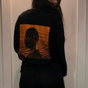 Long sleeve oversized black lil yachty shirt